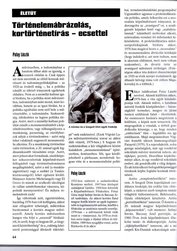 História cikk 2001. májusból
