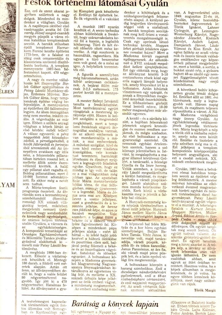 Festők történelmi látomásai Gyulán